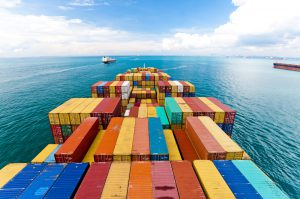 Logistics container ship