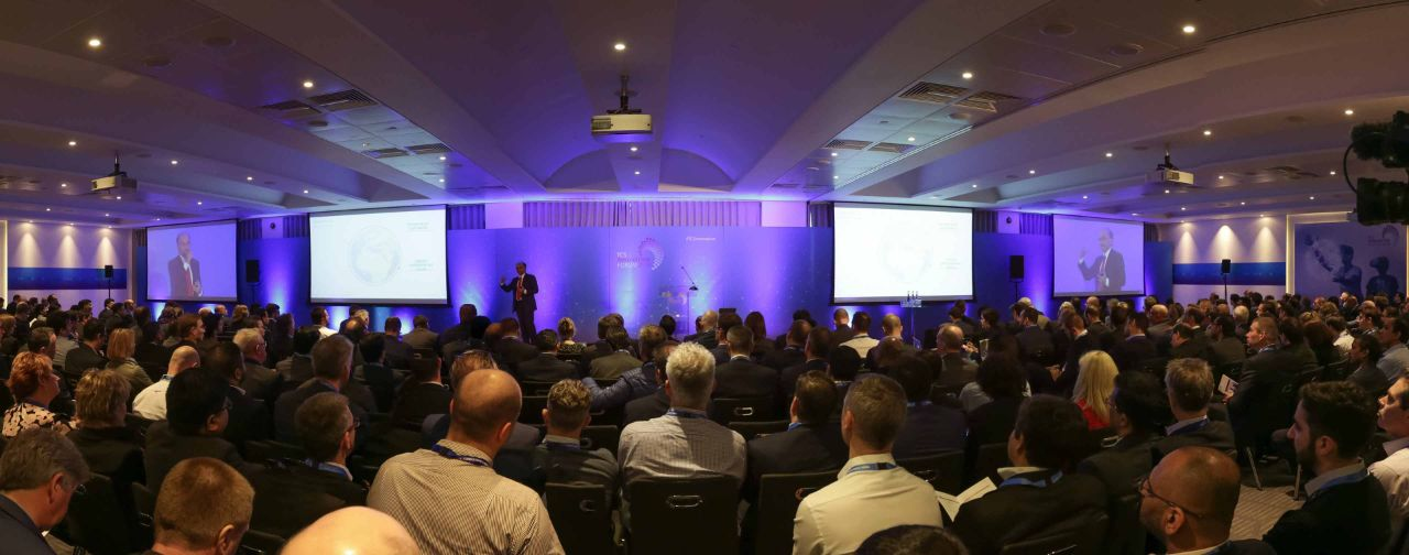 TCS EVP and CTO K Ananth Krishnan addresses a large audience at the London iteration of the Innovation Forum