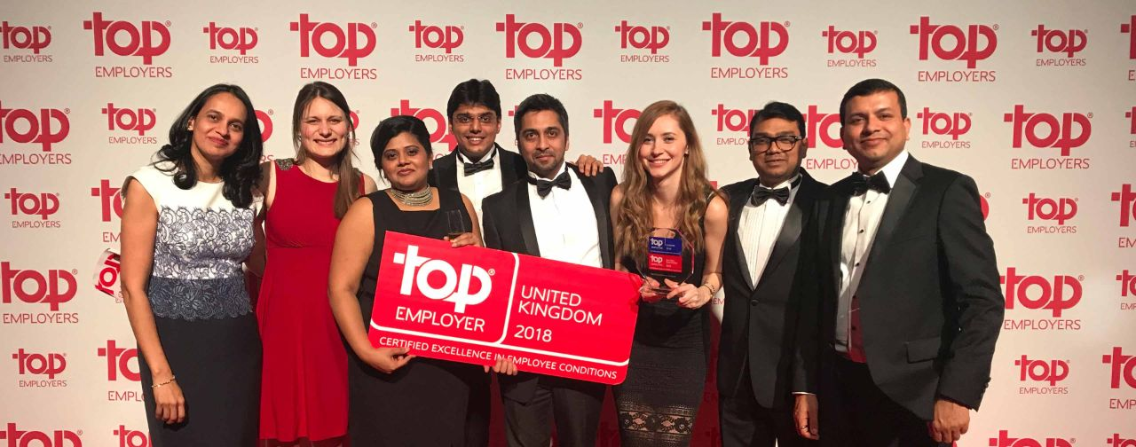 "TCS recognized as the UK's ""Top Employer"""