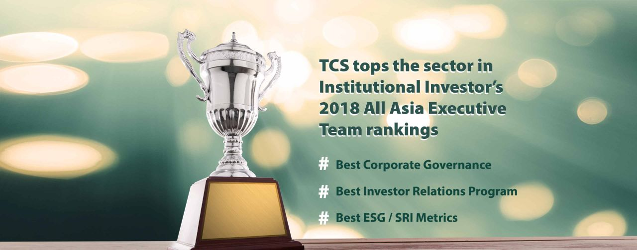 TCS tops the sector in Institutional Investor's 2018 All Asia Executive Team rankings