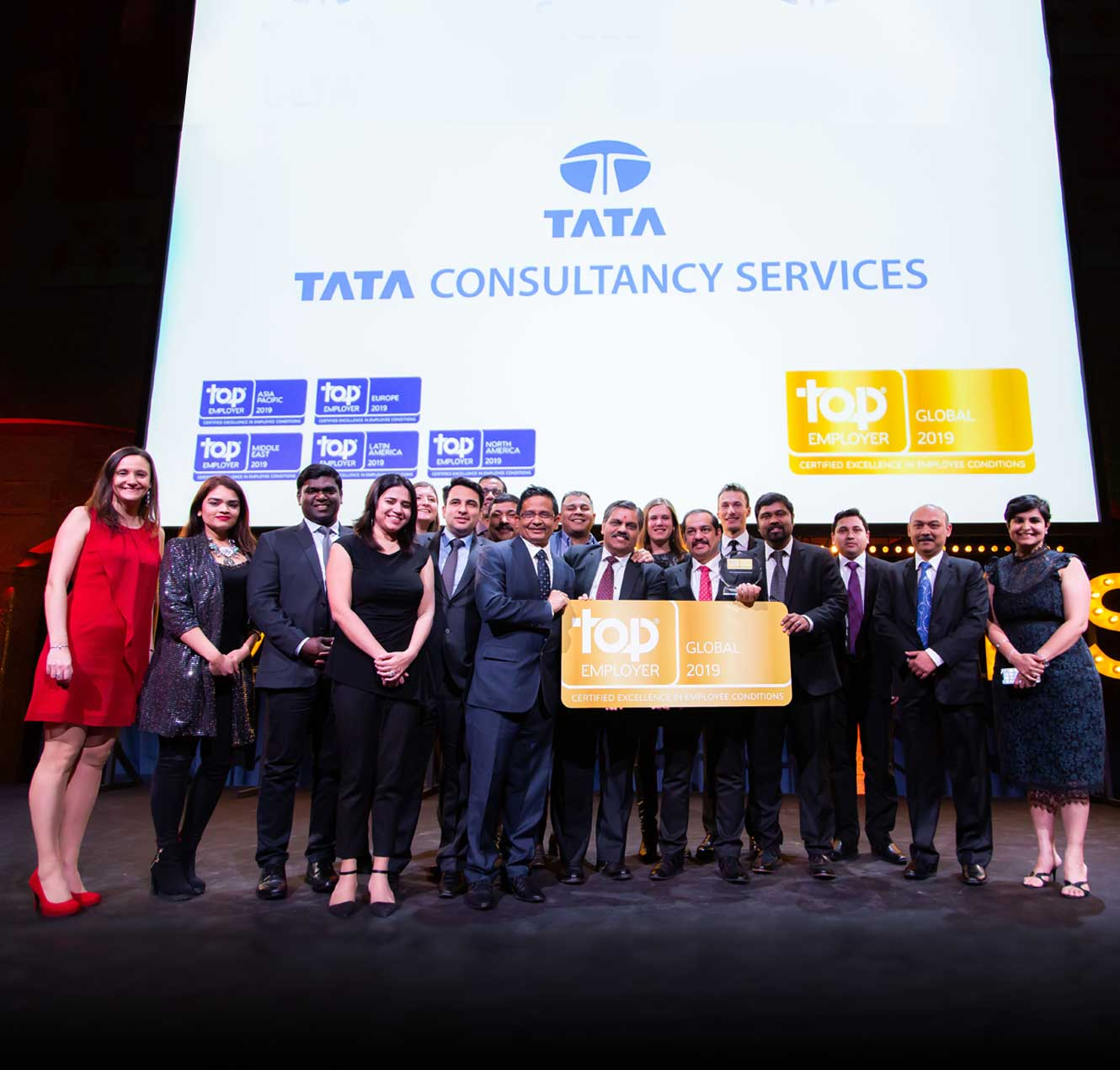 TCS the Only Top 10 IT Services Firm Recognized as a Global Top Employer