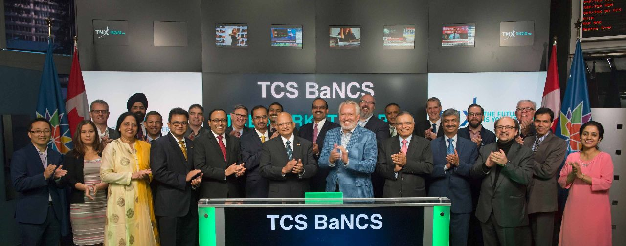 TCS in Toronto Stock Exchange opening bell
