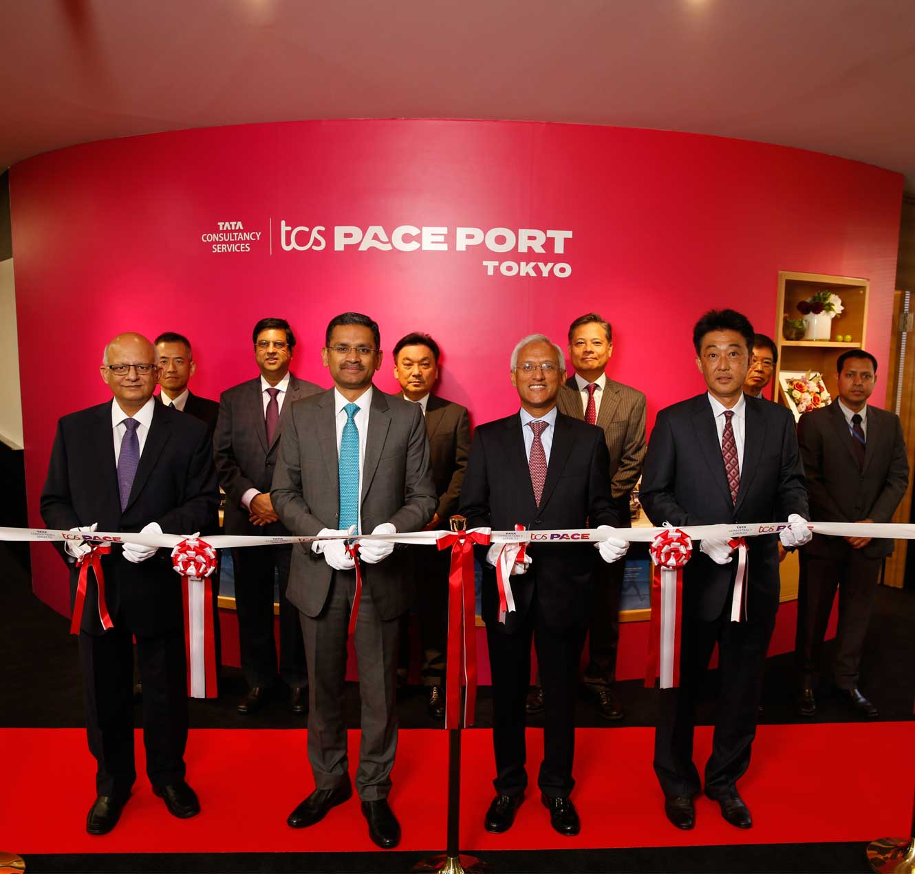 TCS Leadership at Pace Port Tokyo Launch