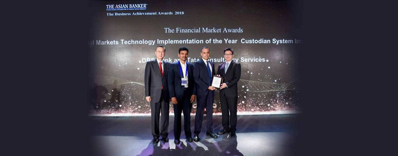 DBS Bank and TCS BaNCS Win The Asian Banker Award for Best Financial Markets Technology Implementation