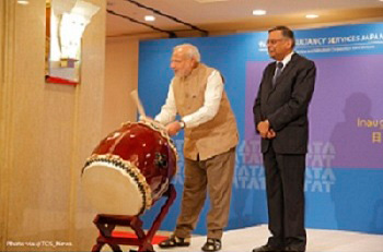 PM Shri Narendra Modi inaugurating at TCS Japan Technology & Culture Academy