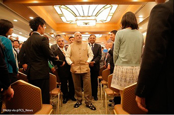 PM Shri Narendra Modi interacting with TCS Trainees
